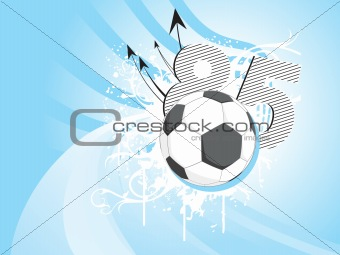 abstract floral background with football, illustration