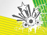 vector illustration of three Soccer ball with abstract background