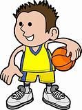 Illustration of boy basketball player