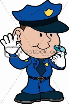 Illustration of policeman