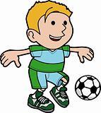 Illustration of boy playing soccer