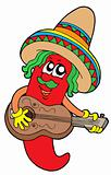 Mexican chilli guitar player