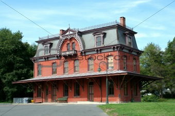 Old railroad station in Hopewell New Jersey