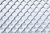 Link fence under snow