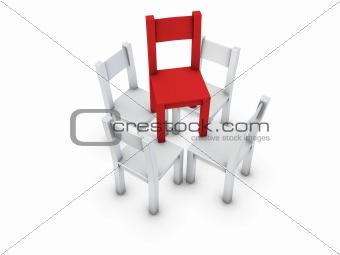 chairs pyramid