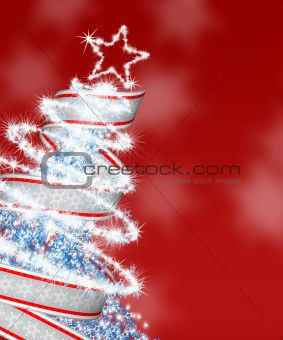 Abstract fur-tree with ribbon