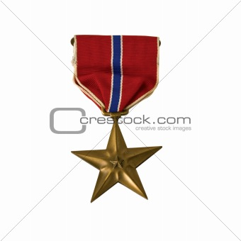 An American Bronze Star isolated with a clipping path