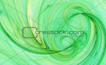 green wave pattern