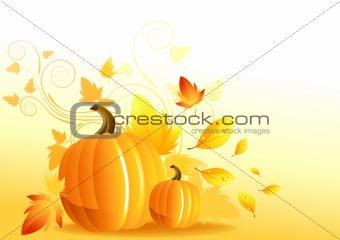 Autumn Pumpkin Elements