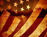 worn american flag