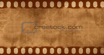 Old negative filmstrip
