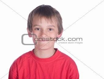 boy on white background