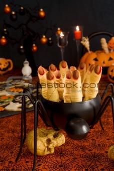 Halloween cookies witch's fingers