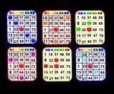 Six Bingo Cards