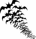 halloween bats silhouettes