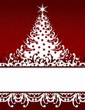 xmas tree greeting card