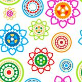 Circled hearts seamless pattern