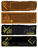 Retro Style Banners Set