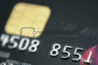 Black credit card closeup