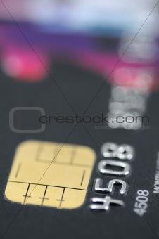 Black credit card closeup