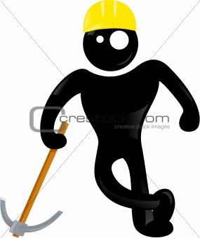 Black man symbol