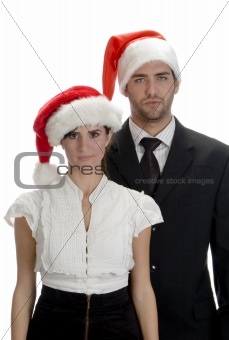 portrait of couple santa