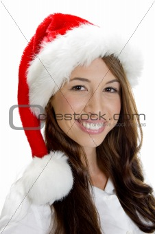 smiling female model