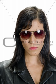 portrait of lady with sunglasses