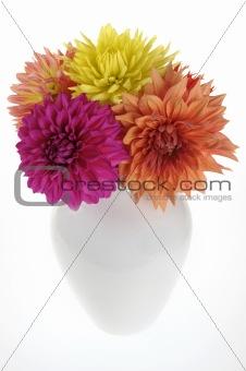 Dahlais in a vase