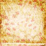 Grunge floral paper
