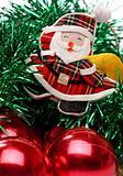 Santa and christmas balls