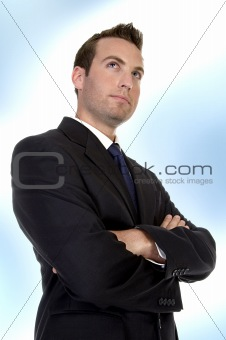 businessman folding hands