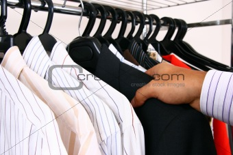 Clothes hanger with business shirts