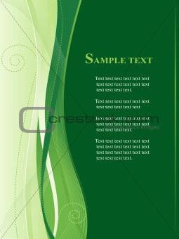 Green business, web   template