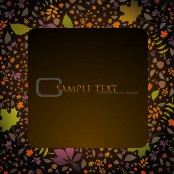 Autumn text panel