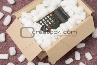 A Package Containing A Calculator