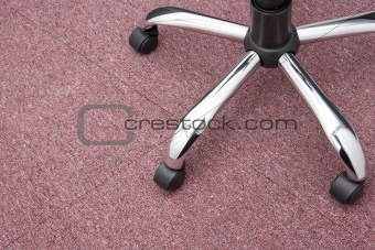 Close Up Of Office Chair Wheels
