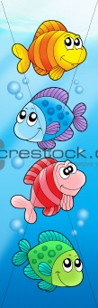 Four various cute fishes
