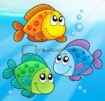 Three cute fishes