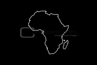 Africa Glowing Map