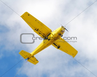 Small yellow airplane