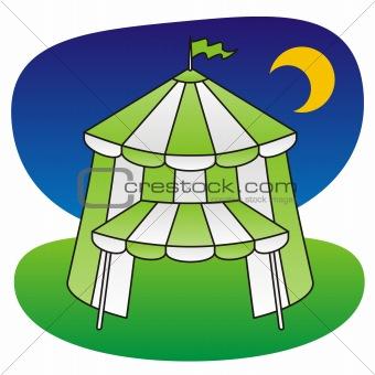 Circus tent green
