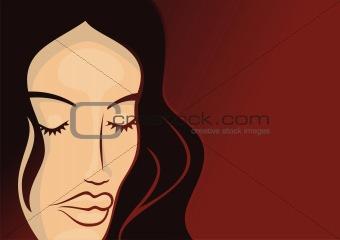 Cosmetics girl template 2