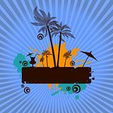 Summer island vector