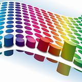Halftone retro dots 3D