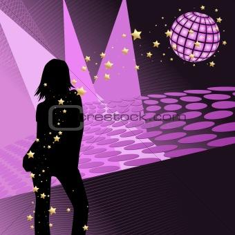 Disco party girl