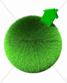 green house on sphere of grass
