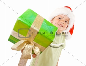Kid with christmas gift