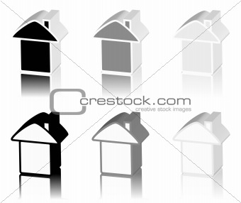 black logo of house