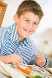 Boy At Christmas Dinner